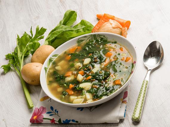 Zeleninová polievka pre detičky